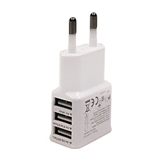 universella eu plug 3-port usb laddare iphone 6/6 plus / 5 / 5s samsung s4 / 5 htc lg och andra