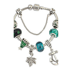 Dames Armbanden met ketting en sluiting Bedelarmbanden Chrismas Europees Hars Strass Legering Anker Diverse Kleuren Sieraden VoorBruiloft