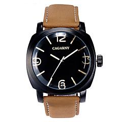 gacarny 6833 dammode svart fall pu läderband analoga kvarts handleden klänning klocka (diverse färg)