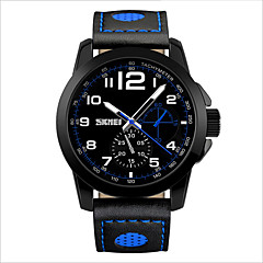 SKMEI® The German High Hardness Glass Table Mirror Fashion Leather Leisure Waterproof Quartz Men's Watch