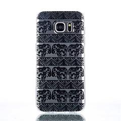 elefant mönster TPU material ringer fallet för Galaxy S4 / s4mini / S6 / S6 kant / s6 kant plus / S7 / s7 kant