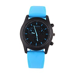 Couple's Fashion Watch Casual Watch Casual Watch Quartz Silicone Band Black White Blue Orange Yellow Rose Strap Watch