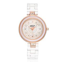 Women's Fashionable Waterproof Diamond White Ceramic Watch Cool Watches Unique Watches