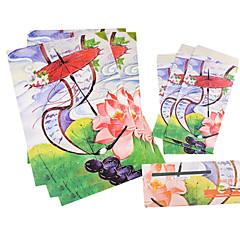 ancien jeu de lettre enveloppe (3 enveloppe 6 papeterie, enveloppes de papeterie 8.6 * 17.6cm, 18,5 * 26cm, motif aléatoire)