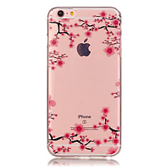 For iPhone 7 Plus TPU Plum Flower Pattern Transparent Soft Back Case for iPhone 6s 6 Plus