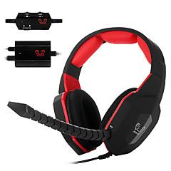 ho-939mv optikai dekóder videojátékok fejhallgatóján fülhallgató levehető mikrofonnal PC / Mac / xbox egy / xbox 360 / PS3 / PS4
