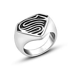 Punk Retro Personality Men Superman Titanium Steel Ring Christmas Gifts