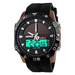 Da uomo Orologio sportivo Quarzo giapponeseLCD / Calendario / Resistente all'acqua / Due fusi orari / allarme / Energia solare / Luminoso