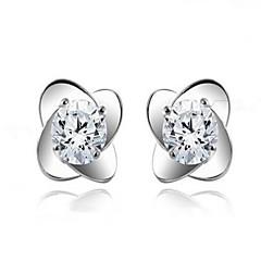 925 Sterling Silver Lucky 4 Leaf Grass Earrings