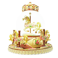 ABS Yellow Creative Romantic Music Box for Gift