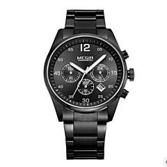 Мужской Нарядные часы Кварцевый LED / Календарь / Повседневные часы Нержавеющая сталь Группа Черный / Белый марка
