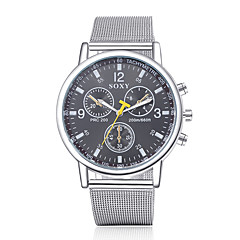 Men's Fashion Round Wristwatches Glass Analog Quartz Watch Casual Business Style Wrist Watch Cool Watch Unique Watch