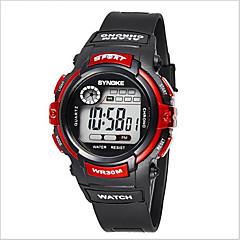 Kinder Armbanduhr digital LCD / Kalender / Chronograph / Wasserdicht / Alarm / leuchtend Caucho Band Schwarz Marke-