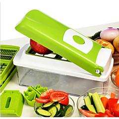 1 db Apple Sárgarépa Narancssárga Hagyma Uborka Paradicsom Cutter & Slicer For Gyümölcs Növényi Rozsdamentes acélTöbb funkciós Jó minőség