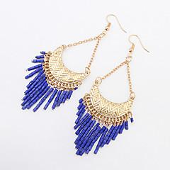 Earring Drop Earrings Jewelry Women Tassels Party / Daily / Casual 1 pair Black / White / Blue / Khaki