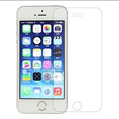 zxd 0,3 mm supertunn härdat glas för iphone5 transparent skärmskydd för iPhone 5 / 5s med rena verktyg