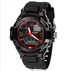 Men's Analog- Digital Water-resisstant Multi-Functional Dual Time Zones Sports Watch Wrist Watch Cool Watch Unique Watch
