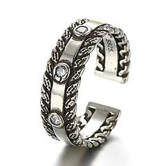 Antique Silver Vintage Stype Open Band Midi Ring for Men/Women