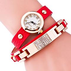Women's Fashion Watch Bracelet Watch Quartz Alloy Band Black Blue Red Brown Green Gold Pink