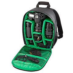 INDEPMAN Waterproof Camera/Lens Backpack DSLR Multifuctional Camera Bag 21*13*34 Green/Red/Orange Inside