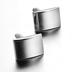 Men's Fashion Simple Silver Alloy French Shirt Cufflinks (1-Pair) Christmas Gifts