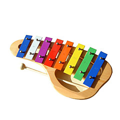 Wood Yellow Hand Piano for Children All Musical Instruments Toy