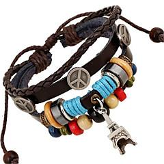Unisex Leather Alloy Handcrafted Vintage Strand Bracelets