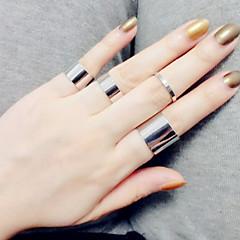 Ringen Modieus / Verstelbaar Dagelijks / Causaal Sieraden Dames / Heren Midiringen / Bandringen 4 stuks,One-Size Zilver