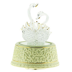 Pottery White Creative Romantic Music Box for Gift