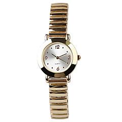 Stylish Gold Simple Generous Elastic Band Quartz Watch Women Fashion Watch Cool Watches Unique Watches