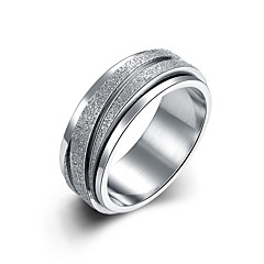 Ring Band Rings Classic Titanium Steel Steel Silver Jewelry For Wedding Daily 1pc