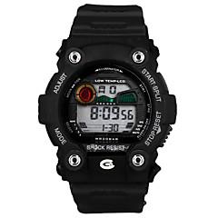 Men's Round Dial Multifunctional Digital Sport Water Resistance Wristwatch Assorted Colors