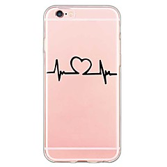 For iPhone 7 Back Cover Transparent Body / Ultra-thin Word/Phrase TPU Soft for iPhone SE/5s/5