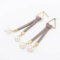 Earring Drop Earrings Jewelry Women Imitation Pearl Party / Daily / Casual 1 pair Black / Blue / Gray / Khaki