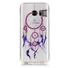 Για Samsung Galaxy S7 Edge Στρας Φως LED που αναβοσβήνει Διαφανής Με σχέδια tok Πίσω Κάλυμμα tok Ονειροπαγίδα Μαλακή TPU για SamsungS7