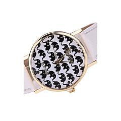 Mulheres Relógio de Moda Quartzo Japonês Relógio Casual Couro Banda Relógio de Pulso / pulseira Preta / Branco / Marrom / Cores Múltiplas