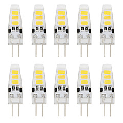 1W G4 LED à Double Broches T 6 SMD 5733 80 lm Blanc Chaud / Blanc Froid Décorative DC 12 V 10 pièces