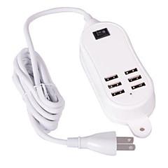 Wtyczka US Telefonowa ładowarka USB Wieloportowa cm Wyloty 6 porty USB 2,1A 2A 1A 0,5A AC 100V-240V
