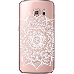 indietro Ultrasottile / Trasparente Mandala modello TPU Morbido soft Ultra-thin Transparent Copertura di caso per Samsung GalaxyS7 edge /