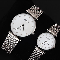 Couple's Dress Watch Casual Watch Quartz Japanese Quartz Stainless Steel Band Silver