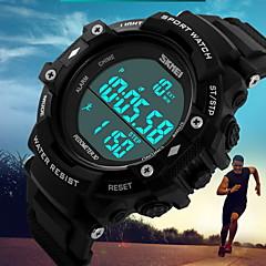 Herre Sportsur Digital LCD / Kalender / Vandafvisende / Dual Tidszoner / Tre Tidszoner / alarm / Selvlysende / Pedometer / Stopur Gummi