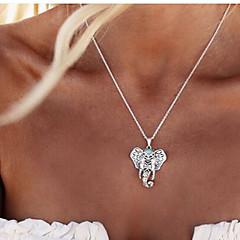 Naisten Riipus-kaulakorut Animal Shape Elephant Metalliseos Muoti Folk Style Hopea Korut Varten Party Päivittäin Kausaliteetti 1kpl