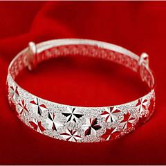 Kadın Bilezikler Moda Som Gümüş Mücevher Mücevher Uyumluluk Yılbaşı Hediyeleri