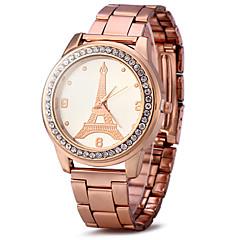 Uniseks Do sukni/garnituru Modny Sztuczny Diamant Zegarek Kwarcowy / sztuczna Diament Pokryte różowym złotem Stal nierdzewna Pasmo
