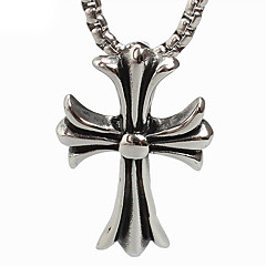 Retro Cross Titanium Necklace Pendant