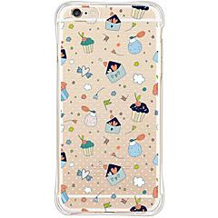 Mert iPhone 6 tok / iPhone 6 Plus tok Vízálló / Ütésálló / Átlátszó Case Hátlap Case Csempe Puha TPU AppleiPhone 6s Plus/6 Plus / iPhone