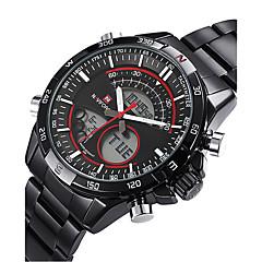 mode militære herre sport håndled digitale ure dual tidszone dato dage lcd armbåndsur cool ur unikt ur