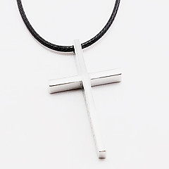 Stainless Steel or Lend Long Necklace Girl Sweater Chain Cross