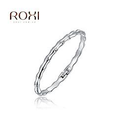Silver Bangle Bracelet 1pc,Fashion Bamboo Shape Bangles Best Friend Gift for Men,Women,Couples