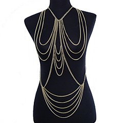 Dames Lichaamssieraden Buikketting Body Chain / Belly Chain Harness Ketting Verguld Kwasten Sexy Bikini oversteekplaats Modieus Goud